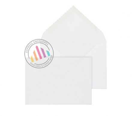 C6 - White Invitation Envelopes - 100gsm - Non Window - Gummed