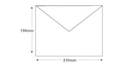 159 x 210mm - White Invitation Envelopes - 100gsm - Non Window - Gummed - image 2