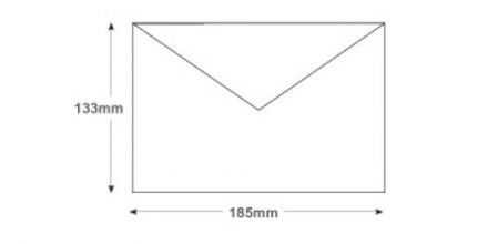 133 x 185 - White Invitation Envelopes - 100gsm - Non Window - Gummed - image 2