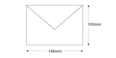 102x146mm - White Invitation Envelopes - 90gsm - Non Window - Gummed - image 2