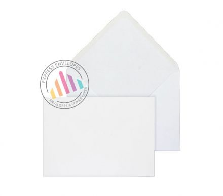 143x203mm - White Invitation Envelopes - 90gsm - Non Window - Gummed