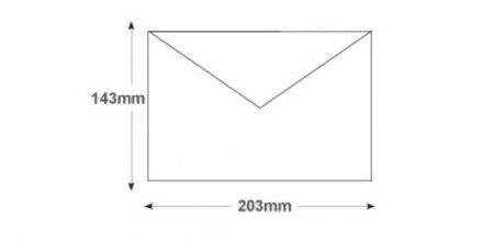 143 x 203mm - White Invitation Envelopes - 90gsm - Non Window - Gummed - image 2