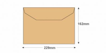C5 - Manilla Mailing Envelopes - 80gsm - Non Window - Gummed - image 2