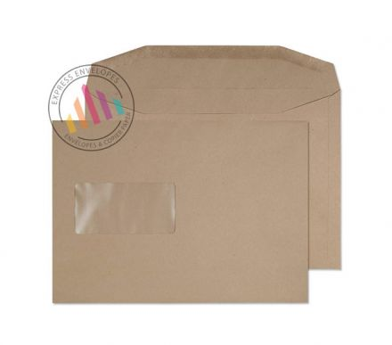 C5 - Manilla Mailing Envelopes - 80gsm - Window - Gummed