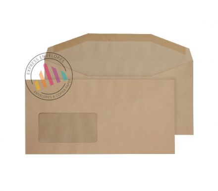 DL++ - Manilla Mailing Envelopes - 80gsm - Window - Gummed