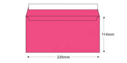 DL+ - Flamingo Pink Envelopes - 120gsm - Non Window - Peel and Seal - image 2