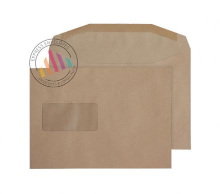 C5+ - Manilla Mailing Envelopes - 80gsm - Window - Gummed