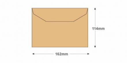 C6 - Manilla Mailing Envelopes - 80gsm - Non Window - Gummed - image 2