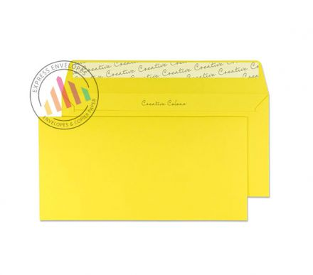 DL+ - Banana Yellow Envelopes - 120gsm - Non Window - Peel and Seal