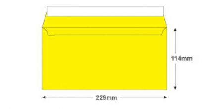 DL+ - Banana Yellow Envelopes - 120gsm - Non Window - Peel and Seal - image 2
