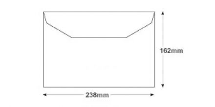 Oversize C5- White Matt Coated Mailing Envelopes - 115gsm - Non Window - Gummed - image 2