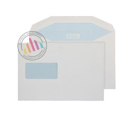 C5+ - White Matt Coated Mailing Envelopes - 115gsm - Window - Gummed