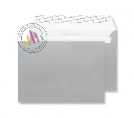 C6 - Metallic Silver Envelopes - 130gsm - Non Window - Peel & Seal