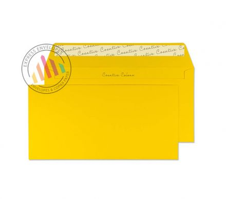 DL+ - Egg Yellow Envelopes - 120gsm - Non Window - Peel and Seal