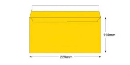DL+ - Egg Yellow Envelopes - 120gsm - Non Window - Peel and Seal - image 2