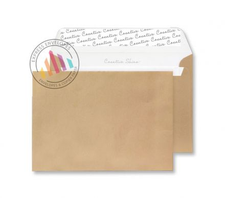 C6 - Metallic Gold Envelopes - 130gsm - Non Window - Peel & Seal