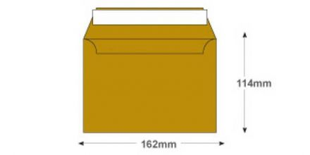 C6 - Metallic Gold Envelopes - 130gsm - Non Window - Peel & Seal - image 2