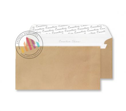 DL+ - Metallic Gold Envelopes - 130gsm - Non Window - Peel & Seal