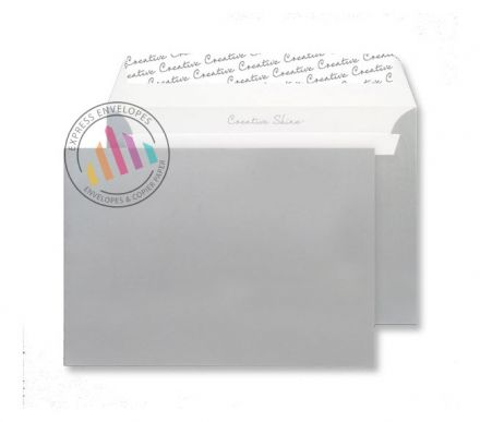C5 - Metallic Silver Envelopes - 130gsm - Non Window - Peel & Seal