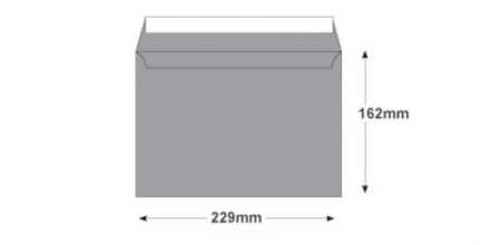 C5 - Metallic Silver Envelopes - 130gsm - Non Window - Peel & Seal - image 2