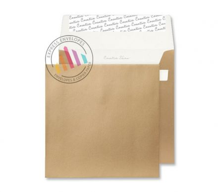160 x 160mm - Metallic Gold Envelopes - 130gsm - Non Window - Peel & Seal