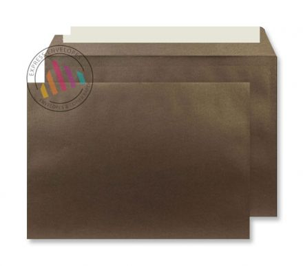 C5 - Antique Bronze Envelopes - 120gsm - Non Window - Peel & Seal