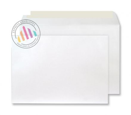 C4 - Frosted White Envelopes - 120gsm - Non Window - Peel & Seal