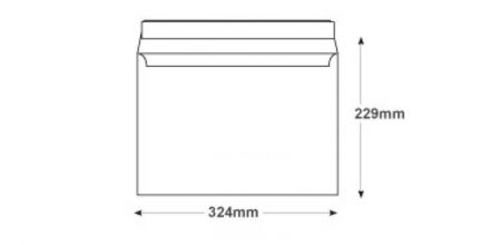 C4 - Frosted White Envelopes - 120gsm - Non Window - Peel & Seal - image 2