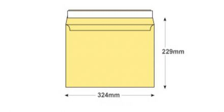 C4 - Champagne Envelopes - 120gsm - Non Window - Peel & Seal - image 2