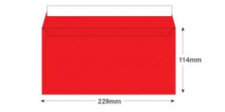 DL+ - Pillar Box Red Envelopes - 120gsm - Non Window - Peel and Seal - image 2