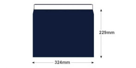 C4 - Midnight Blue Envelopes - 120gsm - Non Window - Peel & Seal - image 2