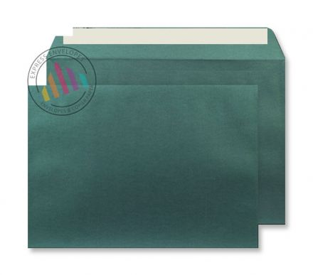 C4 - Pearlescent Forest Green Envelopes - 120gsm - Non Window - Peel & Seal