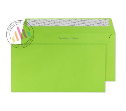 DL+ - Lime Green Envelopes - 120gsm - Non Window - Peel and Seal