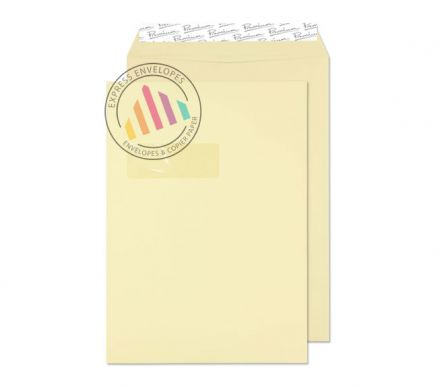 C4 - Vellum Wove Envelopes - 120gsm - Window - Peel & Seal