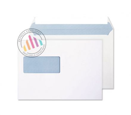 C5 - Ultra White Commercial Envelopes - 120gsm - Window - Peel and Seal