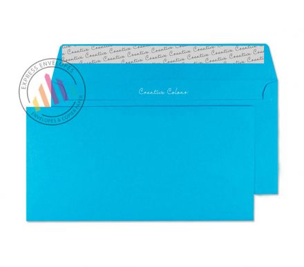 DL+ - Caribbean Blue Envelopes - 120gsm - Non Window - Peel and Seal