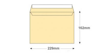 C5 - Cream Wove Envelopes - 120gsm - Non Window - Peel & Seal - image 2