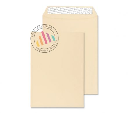 C4 - Cream Wove Envelopes - 120gsm - Non Window - Peel & Seal