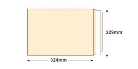 C4 - Oyster Wove Envelopes - 120gsm - Non Window - Peel & Seal - image 2