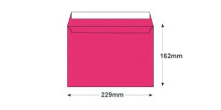 C5 - Flamingo Pink Envelopes - 120gsm - Non Window - Peel and Seal - image 2