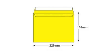 C5 - Banana Yellow Envelopes - 120gsm - Non Window - Peel and Seal - image 2