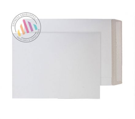 C4 - White All Board Envelopes - 350gsm - Peel and Seal