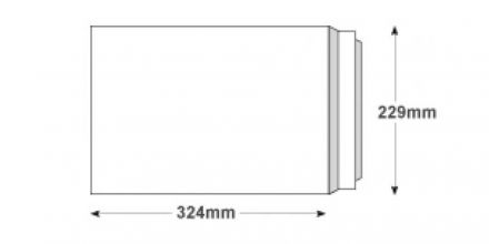 C4 - White All Board Envelopes - 350gsm - Peel and Seal - image 2