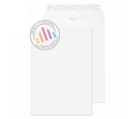 C4 - Ice White Wove Envelopes - 120gsm - Non Window - Peel & Seal