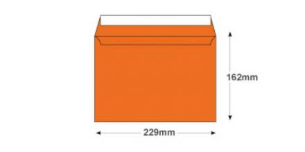 C5 - Pumpkin Orange Envelopes - 120gsm - Non Window - Peel and Seal - image 2