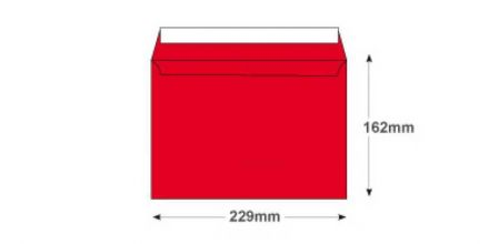 C5 - Pillar Box Red Envelopes - 120gsm - Non Window - Peel and Seal - image 2