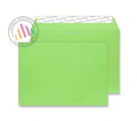 C5 - Lime Green Envelopes - 120gsm - Non Window - Peel and Seal