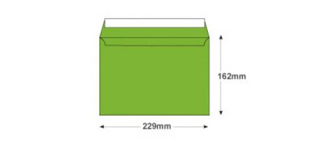 C5 - Lime Green Envelopes - 120gsm - Non Window - Peel and Seal - image 2