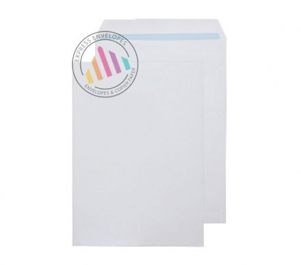 Recycled C4 -  White Commercial Envelopes - 100gsm - Non Window - Self Seal