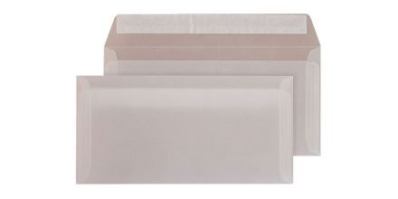 Oversize DL- Translucent White Envelopes - 110gsm - Non Window - Peel & Seal